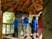 First outdoor workshop in outdoor learning treehouse