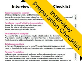 Use this FREE Interview Preparation Checklist to make sure you are well prepared for your next interview!