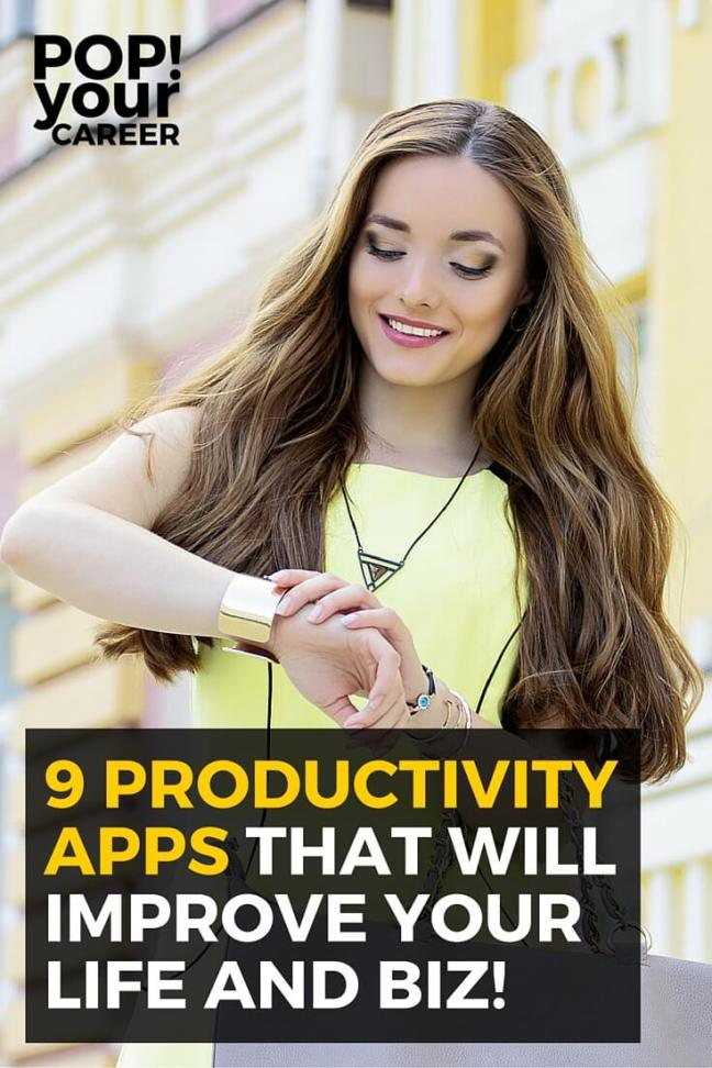 9 Productivity Apps that will improve your life and biz - Pinterest