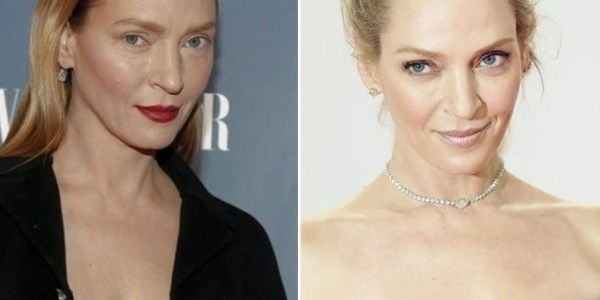 """Maquiador de Uma Thurman diz que visual diferente """"era apenas maquiagem"""""""
