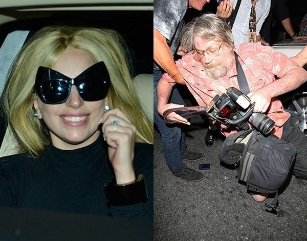 Motorista de Lady Gaga acerta fotógrafo com o carro ao deixar restaurante