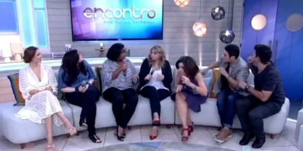 """Lâmpada estoura durante """"Encontro"""" e assusta convidados de Fátima Bernardes"""