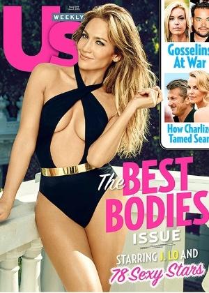 """Aos 45 anos, J. Lo é eleita dona do """"melhor corpo"""" por revista"""