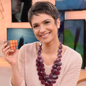 "Jornalista Sandra Annenberg mostra novo talento durante o ""Como Será?"""