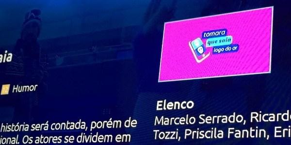 """Logo adulterado de """"Tomara que Caia"""" foi erro operacional, afirma NET"""