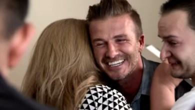 Foto de David Beckham surpreende família com cheque de U$ 100 mil em programa de TV