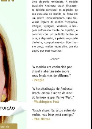 """Em biografia, Andressa Urach revela nome de guerra na prostituição: """"Ímola"""""""