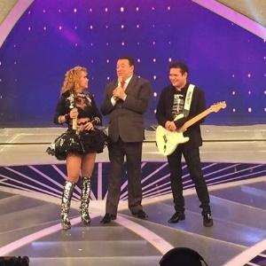 """Após separação, Joelma e Chimbinha gravam juntos o """"Programa Raul Gil"""""""