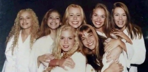 Amigas há 20 anos, ex-paquitas se reencontram em festa de aniversário