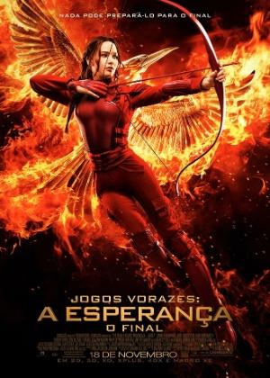 """Katniss aparece pronta para a guerra em pôster do último """"Jogos Vorazes"""""""