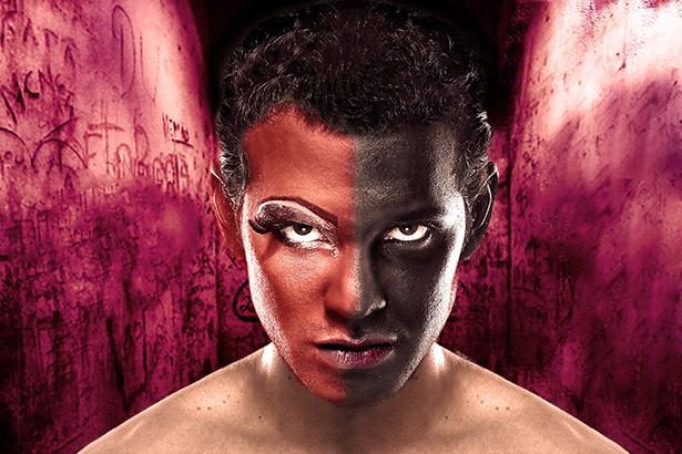Leandro Melo no cartaz de Satã, Um Show Para Madame, em cartaz no Sesc Tijuca
