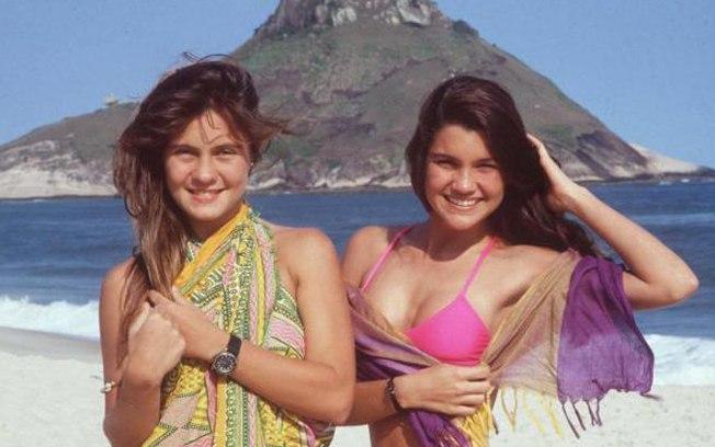 Com Flavia Alessandra em Top Model