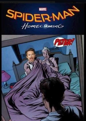 Robert Downey Jr. brinca sobre a relação do Homem de Ferro com a Tia May