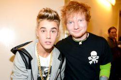 Foto de Ed Sheeran quebra recorde de Justin Bieber na parada britânica