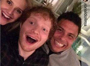 Foto de Ed Sheeran fala sobre sua amizade com Ronaldo Fenômeno