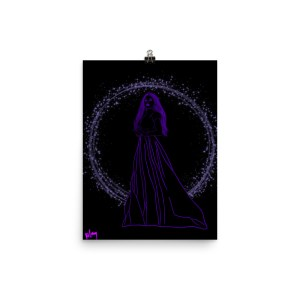 Star Queen purple poster