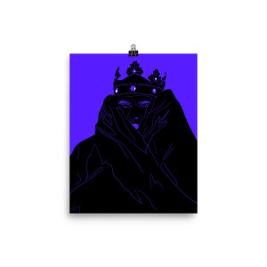 Silence Violator Depeche Mode Dave Gahan king crown purple black dark art poster
