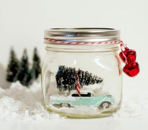 adornos de navidad con frascos 10
