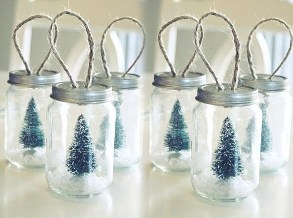 Adornos de navidad con frascos 2