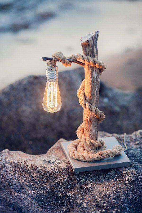 como hacer lámparas de madera artesanales diy