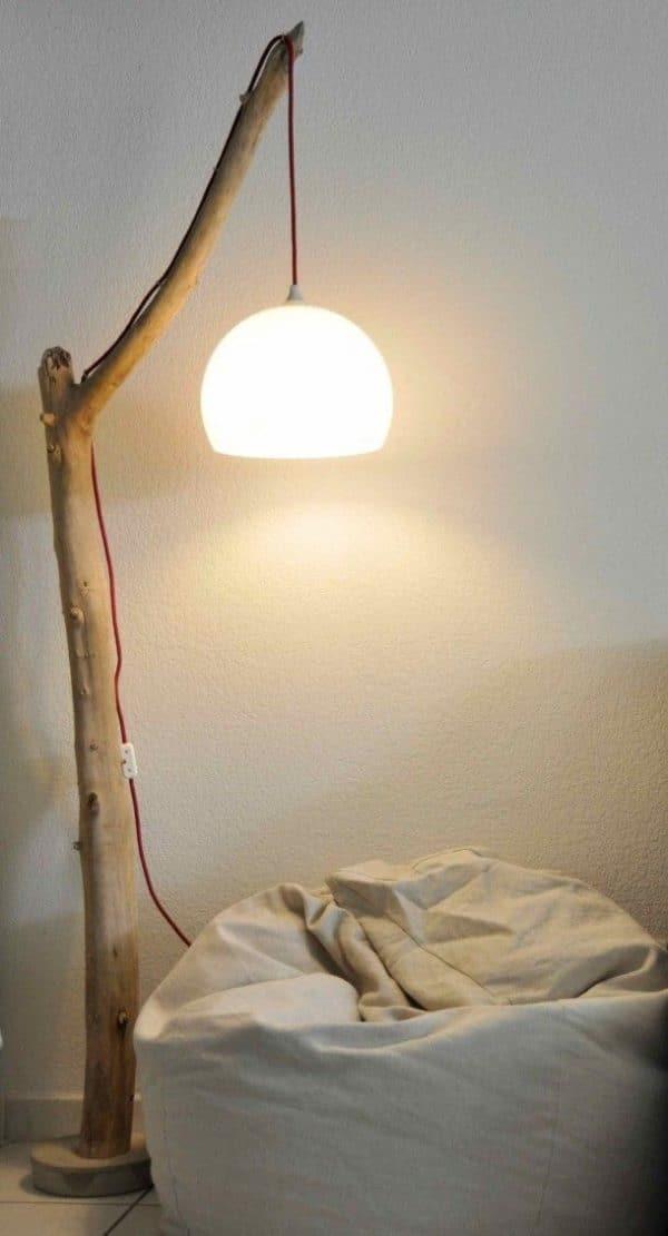 como hacer lamparas de madera artesanales