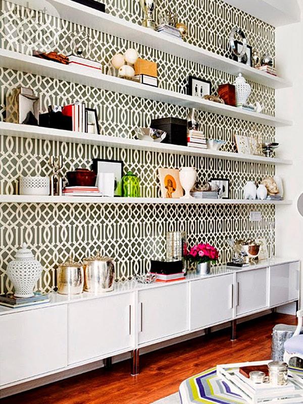 Renovar estanterías con papel pintado ¡Más ideas!