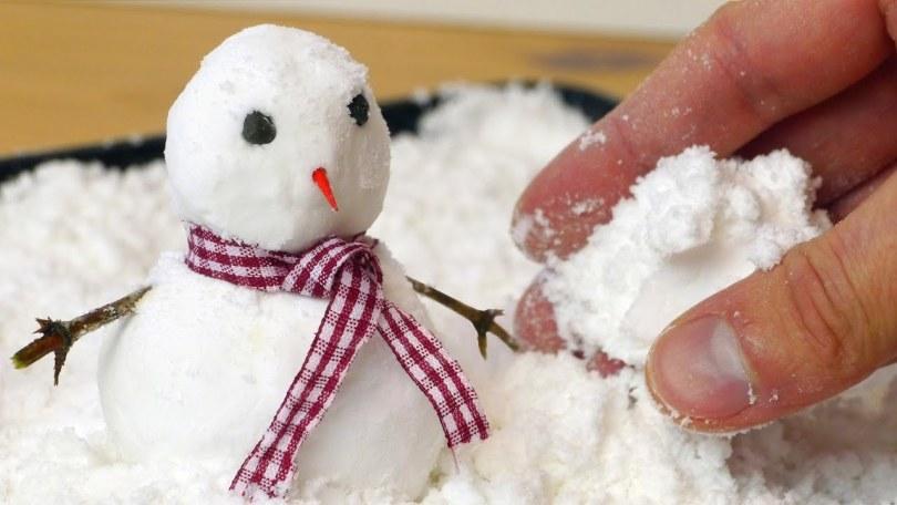 Como hacer nieve artificial