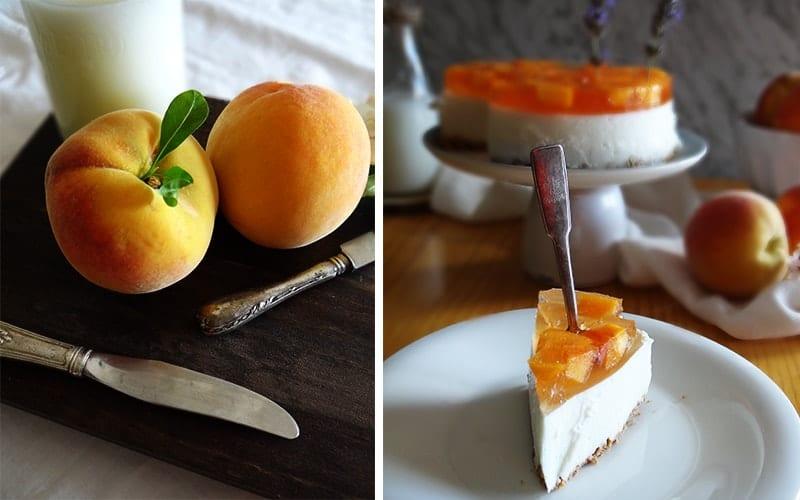 tarta de melocotón y queso mascarpone sin horno