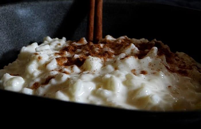 arroz con leche sin nata