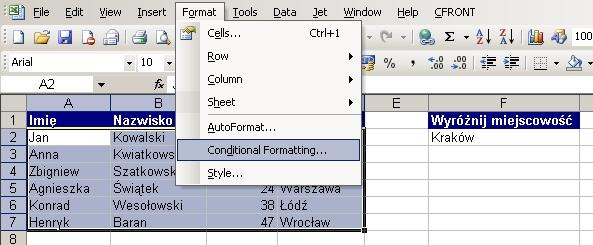 Excel Jak Pokolorować Wiersze W Excelu Dla Których