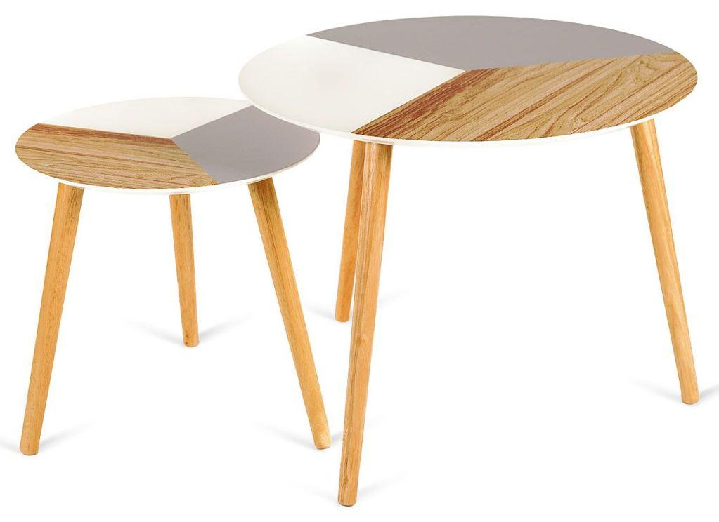 Komplet okrągłych stolików