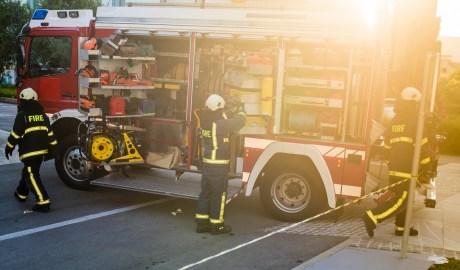Pompa strażacka w wozie gaśniczym