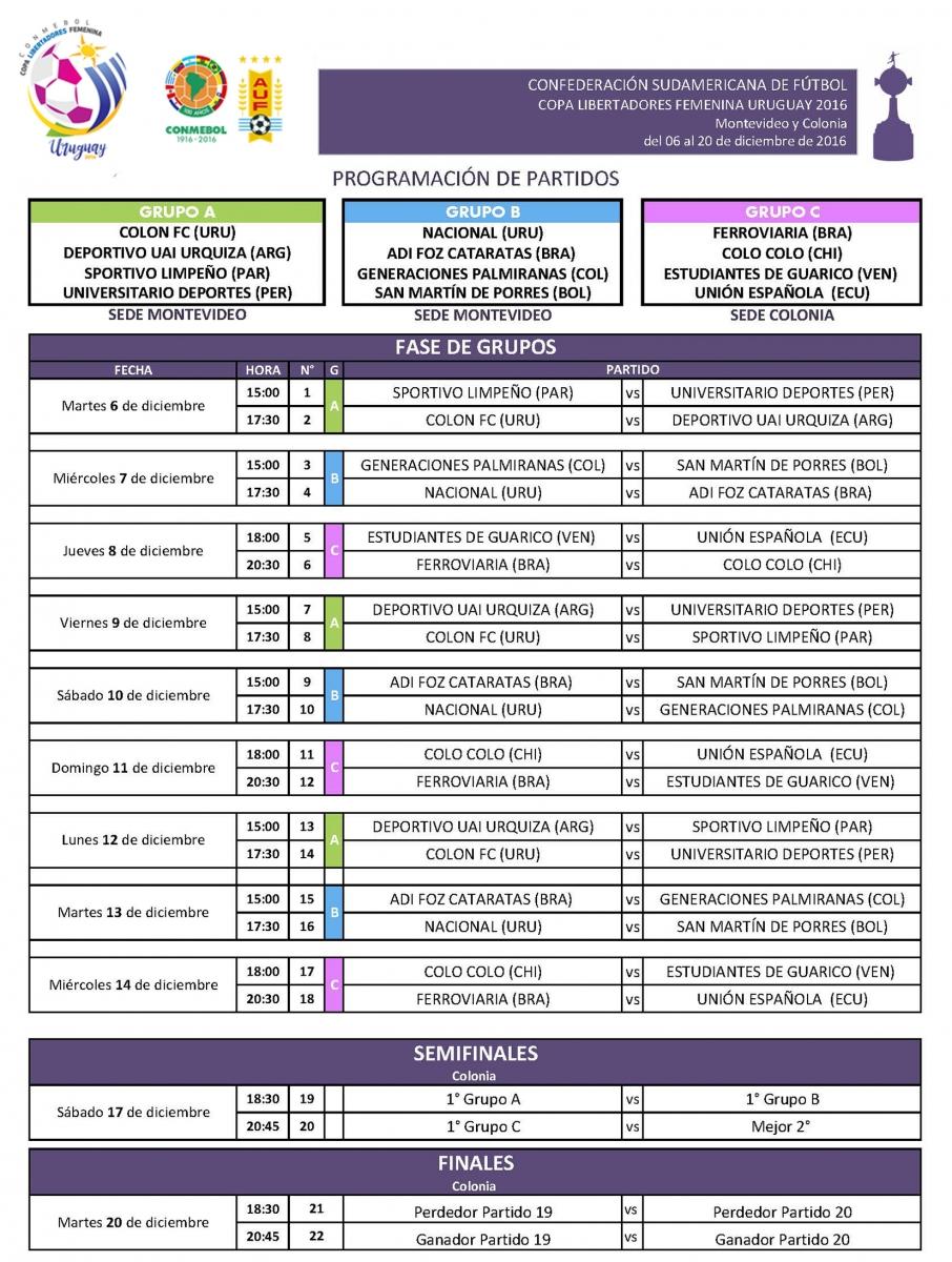 calendariolibertadoresfemenina