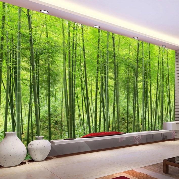 Custom-Photo-font-b-Wallpaper-b-font-font-b-Bamboo-b-font-Forest-Art-font-b