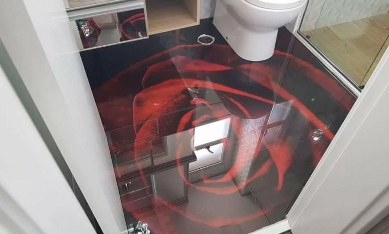 LiquidPiso Banheiro 3d Flor