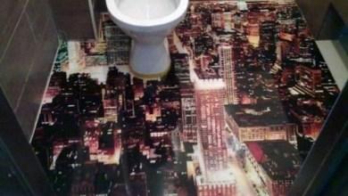 Photo of Banheiro com Porcelanato Liquido 3d!