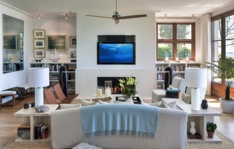 Family Room Furniture Layout Fireplace And Tv