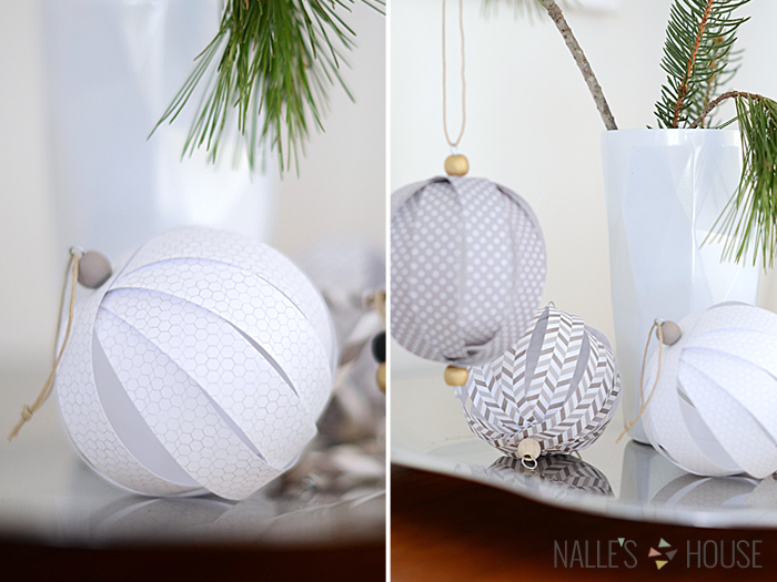 Nalle S House Paper Ball Ornaments 2