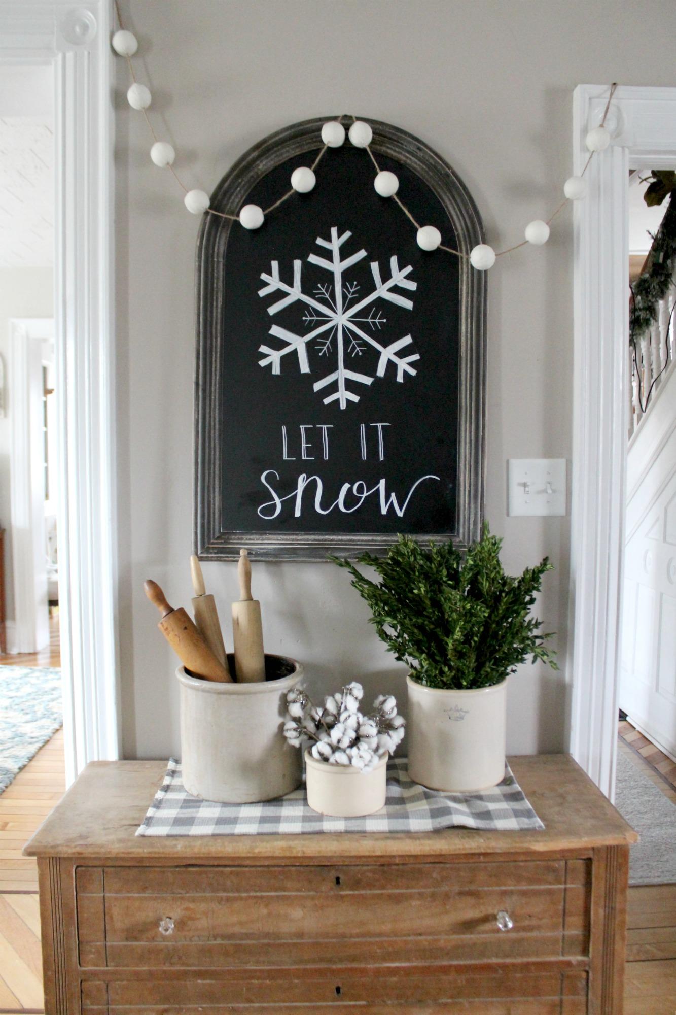 Farmhouse Winter Touches Christinas Adventures