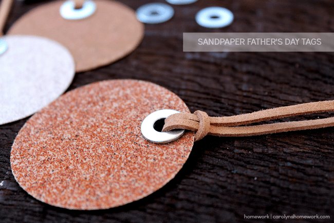 Sandpaper Father's Day Tags