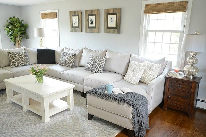 Neutral & Rustic Living Room Reveal | WifeinProgressBlog.com