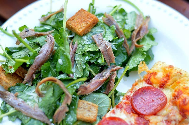Kale Caesar Salad with Anchovies is a salad you MUST try!