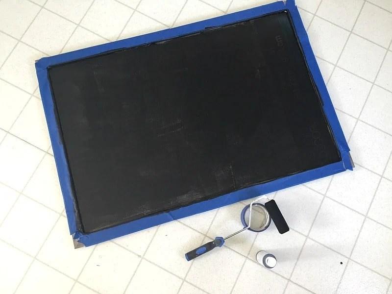 DIY Framed Chalkboard Step 3