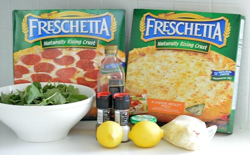 Freschetta Pizza with a side of Kale Caesar Salad