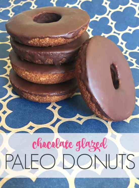You have to try these! These decadent chocolate glazed donuts don't compromise on taste but they are Paleo, dairy-free, refined sugar free!