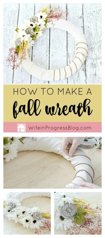 Want to know how to make a burlap wreath? Get a head start on your fall decorating and make this simple autumnal wreath. Such an easy craft to make!