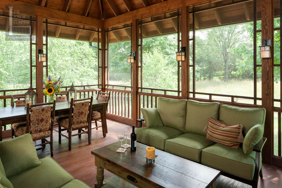 Screened Porch Beautifully Matches Home - The Porch Company on Enclosed Back Deck Ideas id=63098
