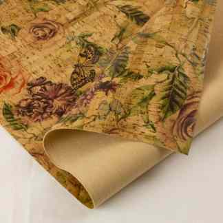 Printed Cork Fabric – Rose Garden