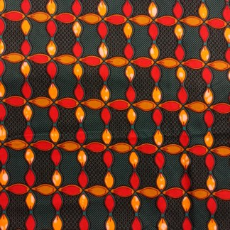African Wax Print Fabric – Block Flowers