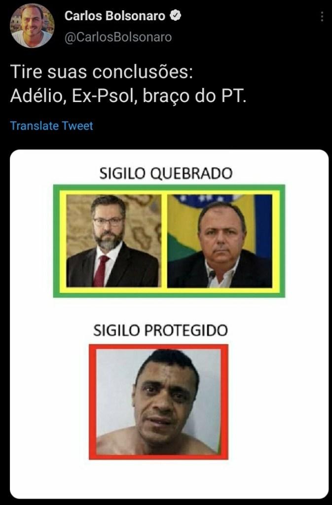 Adélio Bispo é ressuscitado por Carluxo